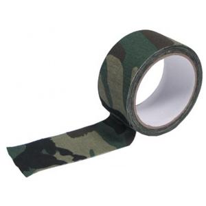 Páska maskovací textilní samolepicí - Woodland