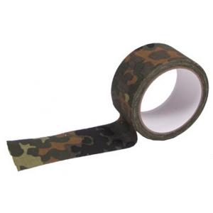 Páska maskovací textilní samolepicí - Flecktarn