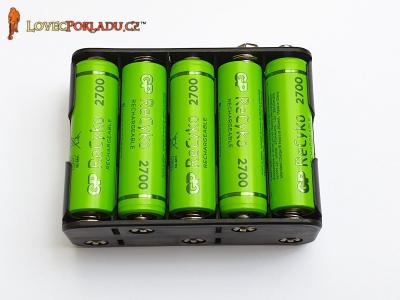 Bateriový blok GP ReCyko 2600 mAh pro detektory Golden Mask