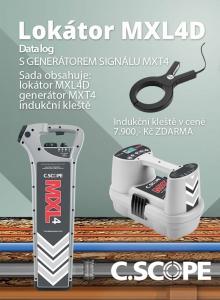 Zvýhodněný set lokátoru C.Scope MXL 4D a generátoru MXT 4