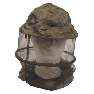 Moskytiéra na hlavu olivová s kovovým distančním rámem