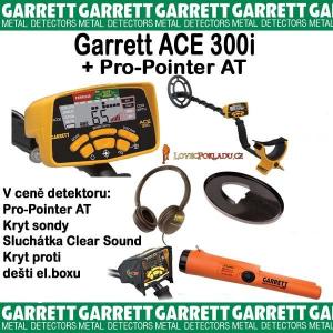 Detektor kovů Garrett Ace 300i + Pro-Pointer AT