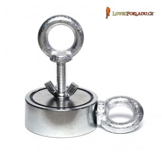 Magnet s okem M250 Double - magnetická síla 2x 250kg