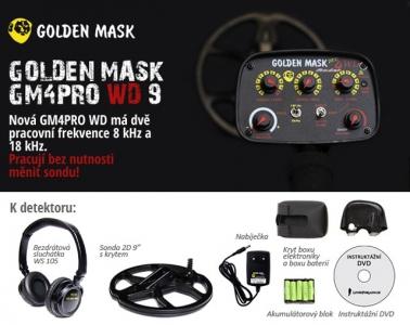 Detektor kovů Golden Mask GM4PRO WD 9