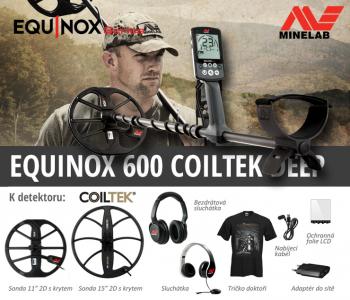 Detektor kovů Minelab Equinox 600 Coiltek Deep set