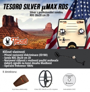 Detektor kovů Tesoro Silver µMax RDS