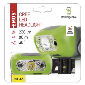 Inteligentní čelovka LP CREE LED s Li-Pol 1200 mAh a IR senzorem