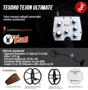 Detektor kovů Tesoro Tejon RDS ULTIMATE