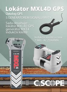 Zvýhodněný set lokátoru C.Scope MXL 4 DBG a generátoru MXT 4