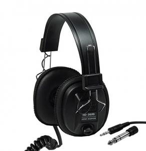 Sluchátka stereo s regulací zvuku HD2020 - jack 3,5 mm a 6,3 mm