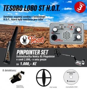Detektor kovů Tesoro Lobo ST - pinpointer set