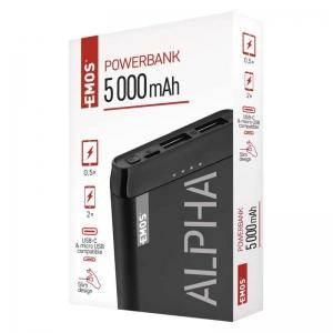 Power bank EMOS ALPHA 5000 mAh - záložní zdroj