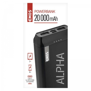Power bank EMOS ALPHA 20000 mAh - záložní zdroj
