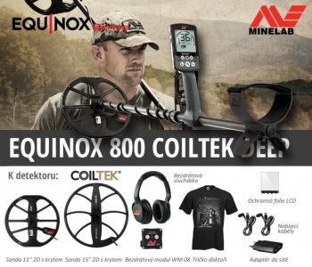 Detektor kovů Minelab Equinox 800 Coiltek Deep set