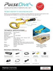 Nokta - Makro Pulsedive Pointer + Scuba Yellow SET