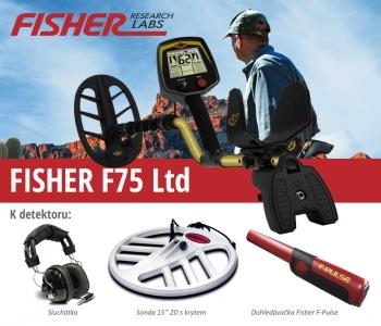 Detektor kovů Fisher F75 LTD V2.0 F-PULSE 15DD SET