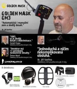 Detektor kovů Golden Mask GM3W