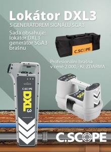 Zvýhodněný set lokátoru C.Scope DXL 3 a generátoru SGA 3