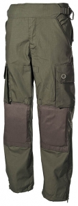 Kalhoty komando zelené