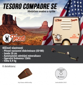 Detektor kovů Tesoro Compadre special edition