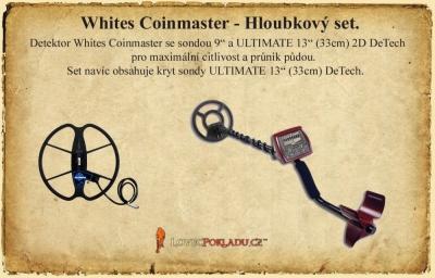 Detektor kovů Whites Coinmaster - hloubkový set