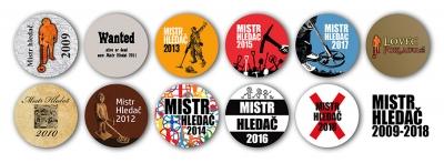 Odznaky 10 let Mistra hledače