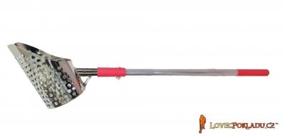 Prosívací lopatka nerezová - kulatá s  oddělitelnou násadou