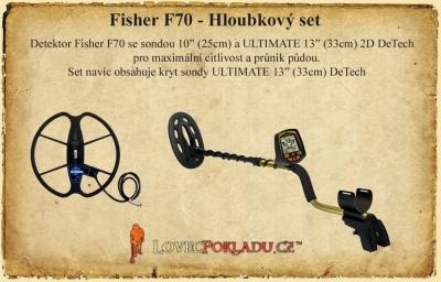 Detektor kovů Fisher F70 - hloubkový set