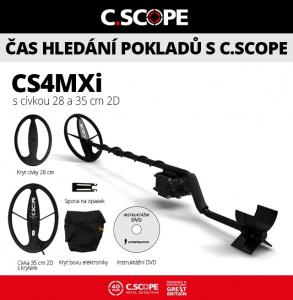 Detektor kovů C.Scope CS4MXi hloubkový set