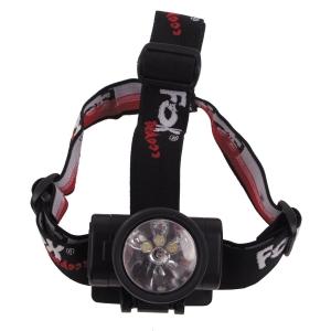 Čelová svítilna 3x LED, 1x Krypton FOX výklopná, černá