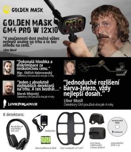 Detektor kovů Golden Mask GM4 PRO Wireless 12x10'' 2D