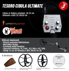 Detektor kovů Tesoro Cibola RDS Ultimate