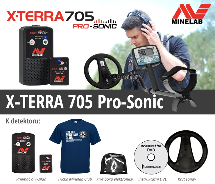 Detektor kovů Minelab X-Terra 705 Pro Sonic