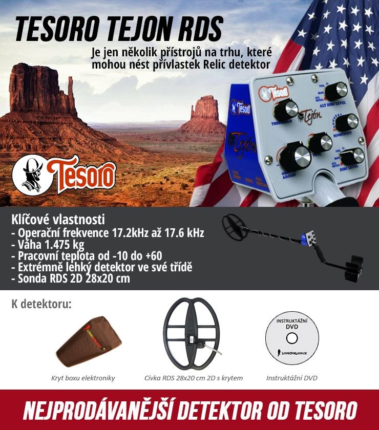 Detektor kovů Tesoro Tejon se sondou 23