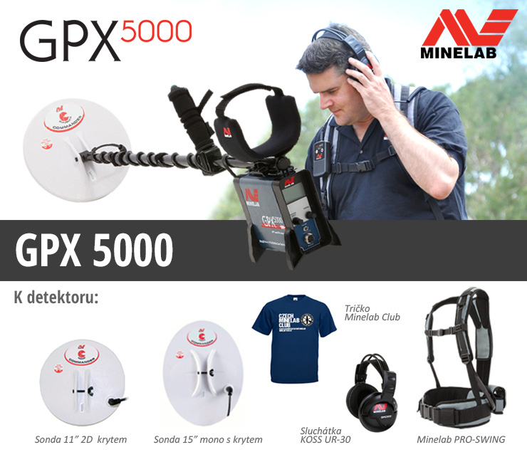 Detektor kovů Minelab GPX 5000 Pro Pack
