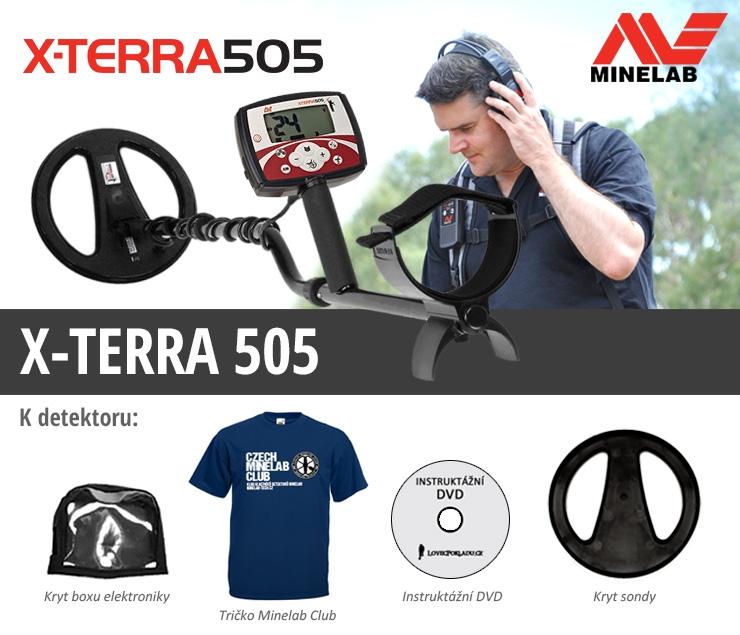 Detektor kovů X-Terra 505