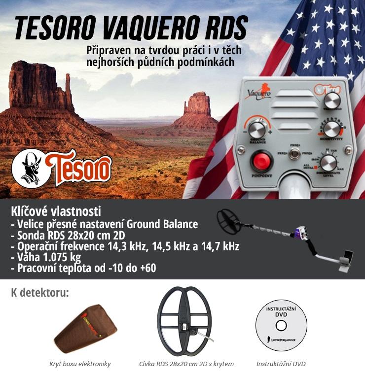 Detektor kovů Tesoro Vaquero RDS