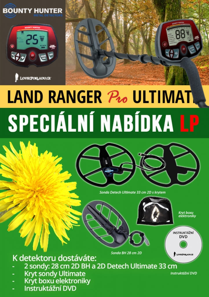 Detektor kovů Bounty Hunter Land Ranger Pro Ultimate