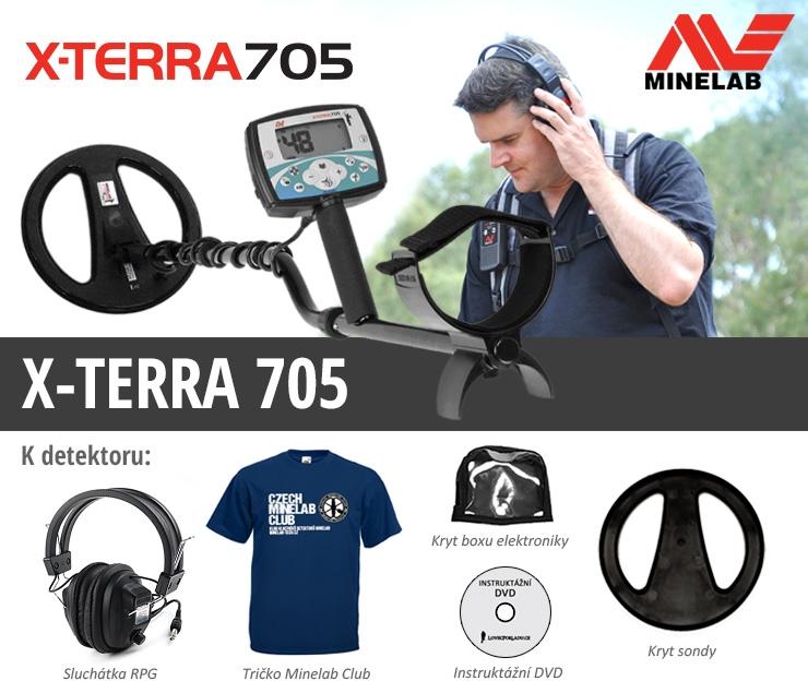 Detektor kovů Minelab X-Terra 705