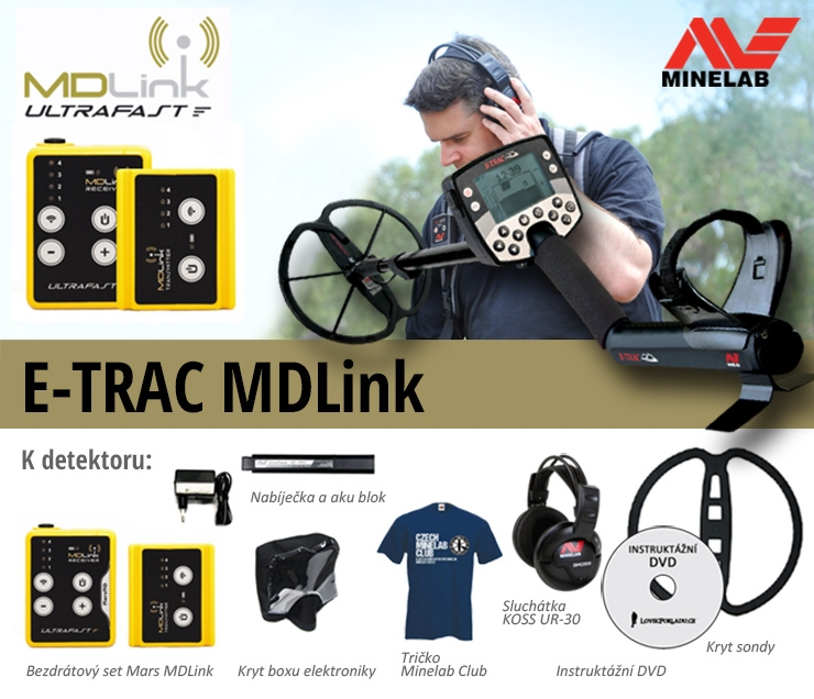 Detektor kovů Minelab E-Trac a MD link