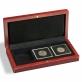 Kazeta na mince s mahagonovou texturou dřeva VOLTERRA pro 3 kapsle QUADRUM