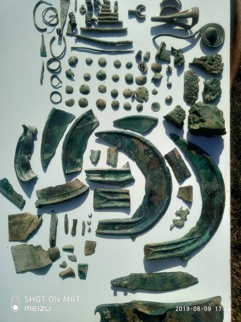 nález detektorem kovů