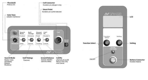 Detektor kovů Minelab GPX 4500 box elektroniky