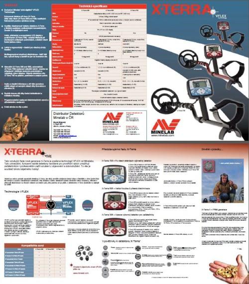 Katalog detektorrů kovů Minelab řady X-Terra