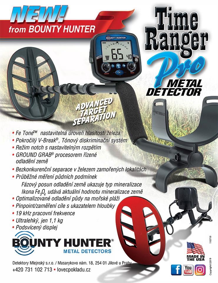 Nový detektor kovů Bounty Hunter Time Ranger Pro