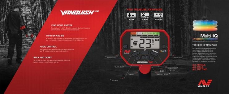 Detektor kovů Minelab Vanquish 440 - přepravní box