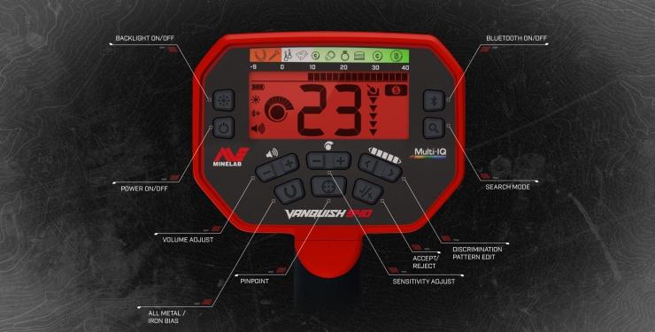 Detektor kovů Vanquish 540 - box elektroniky