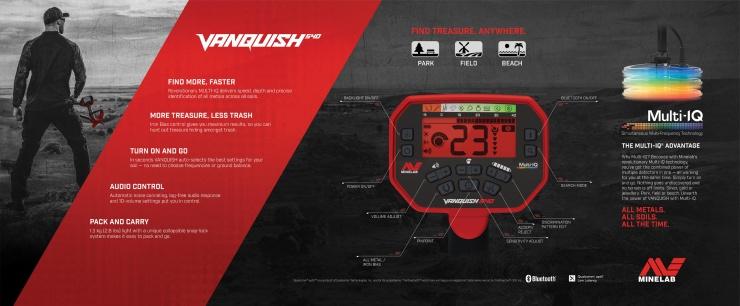 Detektor kovů Vanquish 540 - přepravní box
