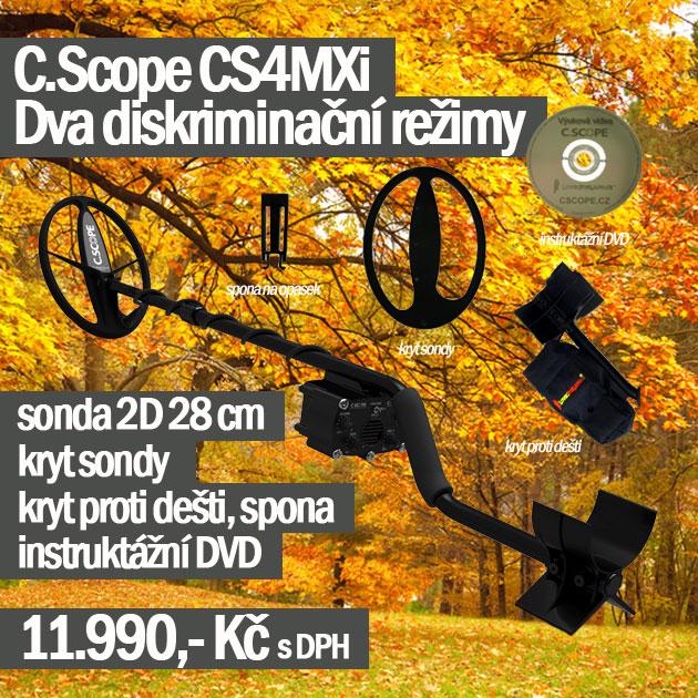 Detektor kovů C.Scope CS4MXi