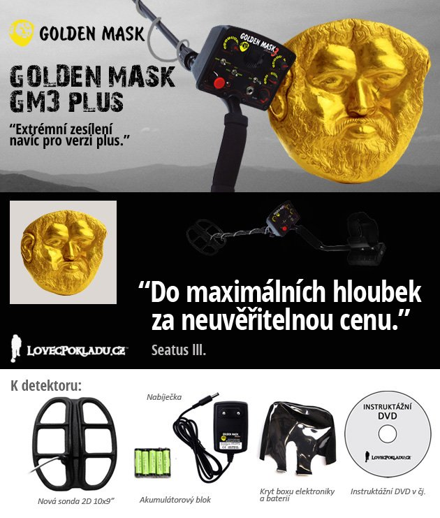 Detektor kovů Golden Mask 3 plus